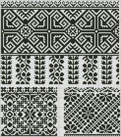 This Pin was discovered by Iry Cross Stitch Borders, Cross Stitch Designs, Cross Stitching, Cross Stitch Patterns, Folk Embroidery, Cross Stitch Embroidery, Embroidery Patterns, Knitting Charts, Knitting Stitches