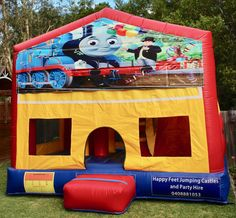 We offer free delivery within a radius of Cooroy & provide quality jumping castles to Gympie Council and Sunshine Coast Council residents. Thomas The Tank, Obstacle Course, Basketball Hoop, Sunshine Coast, Sun Protection, Castles, Book, Chateaus, Books