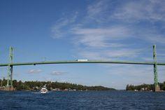 St. Lawrence River, Bridge to Canada, Alexandria Bay, NY.