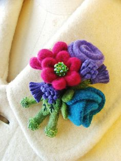 A pretty posy | I used a bit of amethyst colored suede from … | Flickr