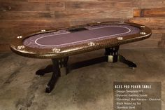 Perfect for any poker or game room, this Aces Pro Poker Table has an exotic vinyl arm rest in Navarra in Chestnut offers a refreshing texture in an arm rest. www.bbopokertables.com/aces-pro-poker-table.html