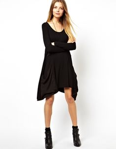 Buy ASOS TALL Swing Dress With Woven Drape Pocket And Long Sleeve at ASOS. With free delivery and return options (Ts&Cs apply), online shopping has never been so easy. Get the latest trends with ASOS now. Robe Swing, Swing Dress, Petite Long Sleeve Dress, Everyday Goth, Asos Petite, Fashion Company, Casual Dresses, Fashion Beauty, My Style