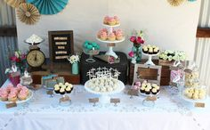 Amy Atlas: Rustic Engagement Party Guest Dessert Feature