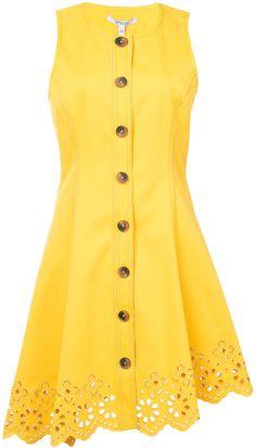 Derek Lam 10 Crosby Sleeveless Button Down Dress With Scalloped Hem Day Dresses, Summer Dresses, Pattern Sewing, Button Down Dress, Derek Lam, Scalloped Hem, Yellow Dress, New Dress, Top