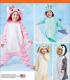 Simplicity Patterns Us1032A-Simplicity Toddlers' Animal Costumes-1/2-1-2-3-4