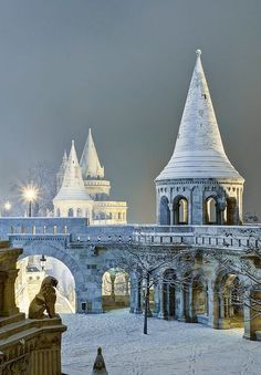 Snowy Budapest. #Christmas  (Image via imagefave on Pinterest)