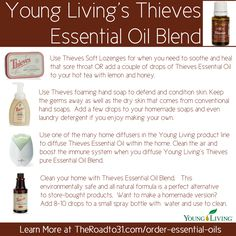 Young Living's Thieves Essential Oil Blend for the body, the home, and for health.