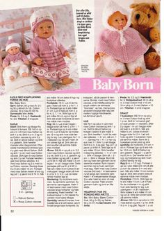 ideas baby born clothes pattern free girls for 2019 Baby Knitting Patterns, Knitted Doll Patterns, Doll Sewing Patterns, Knitted Dolls, Doll Clothes Patterns, Knitting Dolls Clothes, Crochet Doll Clothes, Baby Born Clothes, Teddy Bear Clothes
