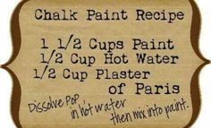 Chalkboard paint recipe