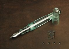 Franklin-Christoph Pocket 66 Fountain Pen in Antique Glass finish acrylic.