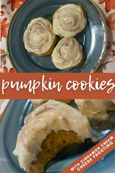 Get into the fall spirit baking these easy, homemade, melt in your mouth pumpkin cookies with cinnamon cream cheese frosting! This recipe is honestly so simple for this perfect, soft and delicious fall dessert. #pumpkincookie #pumpkin #falldessert Healthy Travel Food, Road Trip Food, Peach Crumble, Good Food, Yummy Food, Cinnamon Cream Cheese Frosting, Pumpkin Cookies, Homemade Cookies, Fall Desserts