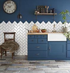 Get Creative With Kitchen Tiles by Carole King. #designideas #homedecor @deardesigner