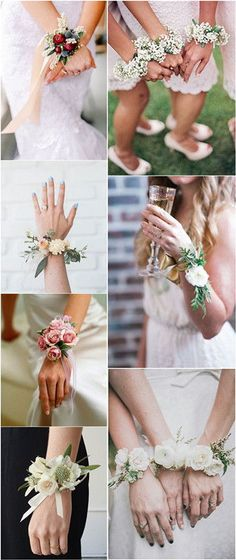 18 Chic and Stylish Wrist Corsage Ideas You Can't Miss! #weddings #weddingideas