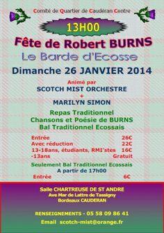 RootstockAds Event: Burns night festival - #Bordeaux 26th January 2014