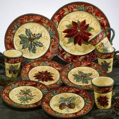 Love! Tuscan Christmas Dinnerware Serveware Plates Bowls. Finding them is easier said than done!