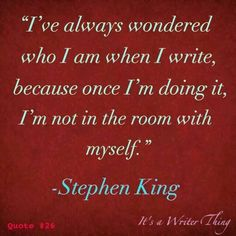 Is this true? Does writing balance out your emotional- verbal excesses? Writing Advice, Writing Help, Writing A Book, Writing Prompts, Stephen King Quotes, Stephen Kings, Writing Motivation, Writer Quotes, Writer Memes