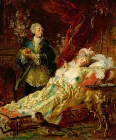 I found this picture on Twitter. Madame du Barry and King Louis XV