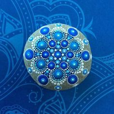 Jewel Drop Mandala Painted Stone by ElspethMcLean on Etsy