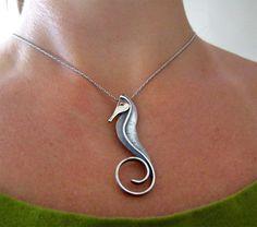 SEAHORSE Pendant Necklace. $65.00, via Etsy. -THIS person copied Paul Lobel's piece.