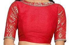 Items similar to Traditional Red Ready to Wear Non-Padded Stitched Wedding BOAT NECK Blouse Christmas Party Wear Saree Crop Sari Top Brocade Silk For Women on Etsy Blouse Designs High Neck, Fancy Blouse Designs, Saree Blouse Designs, Christmas Party Wear, Party Wear Sarees, Sari, Ready To Wear, Brokat, Trending Outfits