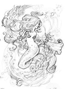 #Mermaid tattoo sketch http://tattoo-ideas.us