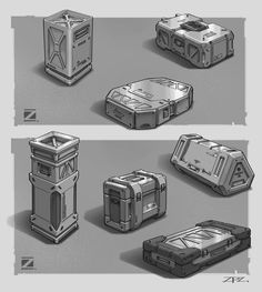 Ammunition boxes, Z PZ on ArtStation at https://www.artstation.com/artwork/kG43n