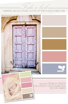 Designseeds...This is the most beautiful door, I LOVE the color...I wonder if my husband would even let me do it