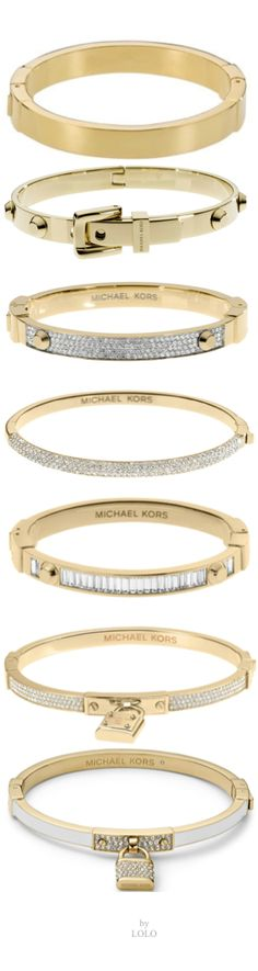 Michael Kors Bangles  My husband bought me a bangle just like the fourth one down for our wedding anniversary. It is sooo beautiful...