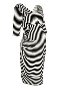 Buy Stripe Ruched Dress (Maternity) from the Next UK online shop