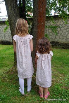 DSC02799 Baby Girl Dress Patterns, Girls Dresses, Flower Girl Dresses, Voici, Afin, Cold Shoulder Dress, Sewing, Knitting, Wedding Dresses