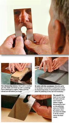 Polishing Plane Blades and Chisels - Sharpening Tips, Jigs and Techniques | WoodArchivist.com