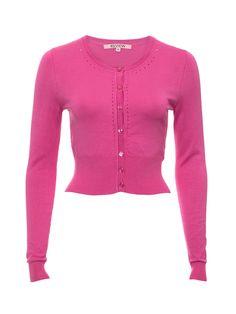 Maggie Long Sleeve Cardi | Hot Pinkt| Cardigan