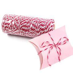 100 Jardas/rolo Muitas Cores Algodão Bakers Twine Stripe Linha para o Partido Do Favor Do Casamento Pacote de Presente Artesanato Suprimentos