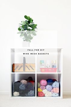 Take organization into your own hands and make mesh baskets perfect for storing craft supplies and other household items.