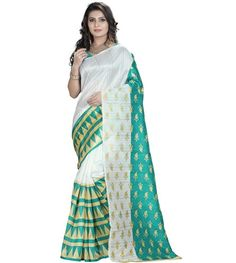 Looks beautiful in traditional attire here is the perfect traditional saree for all type of occasion. This saree is designed with Printed work. A blouse fabric is combined with this saree. This is perfect option to gift to your sister on this Rakhi Festival. Blouse Fabric : Silk   Saree Length : 5.5 mtr Blouse Length : 0.80 mtr