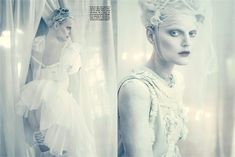"""A White Story"", fotos de Paolo Roversi. Vogue Itália, abril, 2010"