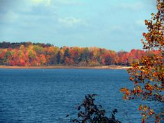 Patoka Lake in Indiana in the fall!