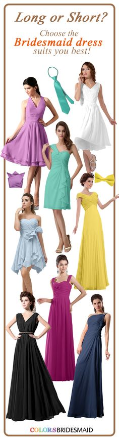 Colorsbridemaid.com has tons of bridesmaid dresses that won't break the bank! 50+ Colors available. 70% Off