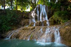 Wonderful waterfall in Slovakia in the middle of the village Lúčky,Liptov Travel Around The World, Around The Worlds, Beautiful Places To Travel, Rarity, Most Beautiful, Waterfall, Middle, Outdoor, Travelling