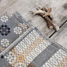 coldatnight Welsh wool blanket in pebble grey by fforest general stores