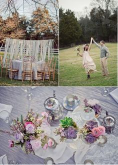 Lovely hanging streamers - maybe if we have way too much Ribbon.