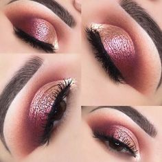 39 Top Rose Gold Makeup Ideas To Look Like A Goddess 39 Top maquillage or rose Top maquillage or rose Top maquillage or rose I Eye Makeup Blue, Rose Gold Makeup Looks, Wedding Makeup For Brown Eyes, Makeup Looks For Brown Eyes, Natural Wedding Makeup, Wedding Makeup Looks, Pink Makeup, Eye Makeup Tips, Smokey Eye Makeup