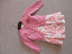 komplet šaty a svetřík pro holčičku 98