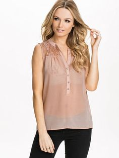 Rosalina Lace Top - Only - Rose Smoke - Tops - Clothing - Women - Nelly.com Uk