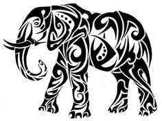 Elephant Tattoo Design - see more designs on http://thebodyisacanvas.com