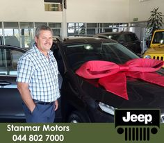 Congratulations to Mr Frikkie van Eck on purchasing a brand new #Jeep Cherokee 3.2 AWD. We wish you many happy adventures ahead from #TeamStanmar . Sold by Dewald - 044 802 7000.