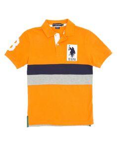 Boy's Color Block Polo Shirt
