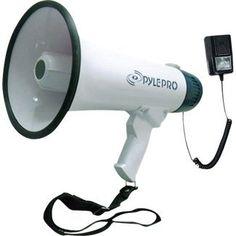 Pyle PMP45R Professional Dynamic Megaphone with Recording Function/Detachable Microphone and Rechagable Batteries - http://www.rekomande.com/pyle-pmp45r-professional-dynamic-megaphone-with-recording-functiondetachable-microphone-and-rechagable-batteries/