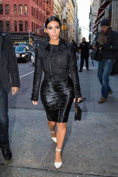 Kim Kardashian arrives at ABC Kitchen for lunch with Jonathan Cheban on Jan. 8, 2015, in New York City.