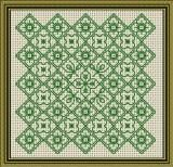 Blackwork Floral, from Tams Creations, stitched in 1 color.